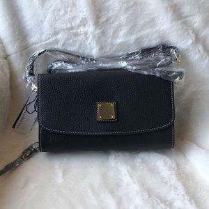 Dooney & Bourke Leather Crossbody/Clutch Wallet